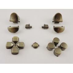 DS4 button set chrome Black Gen 4,5 V2