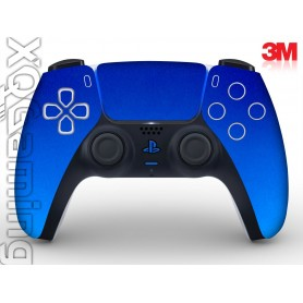 DualSense skin Metallic Blue Fire