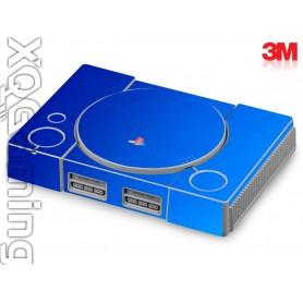 PS1 skin Metallic Blue Fire