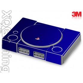 PS1 skin Metallic Blue Rapsberry