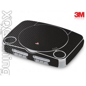 PS1 slim skin 3d Carbon Fiber Black
