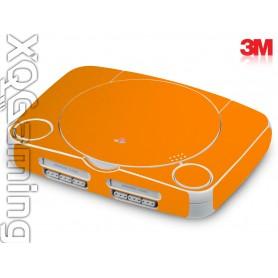 PS1 slim skin Glans Helder Oranje