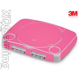 PS1 slim skin Glans Hot Roze