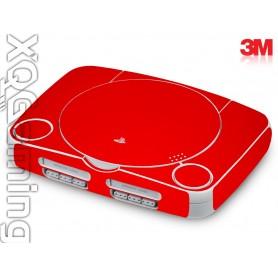 PS1 slim skin Gloss Hotrod Red