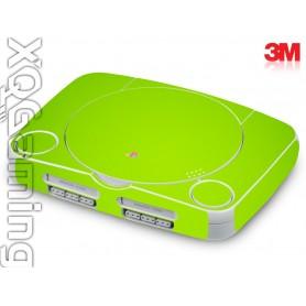 PS1 slim skin Glans Licht Groen