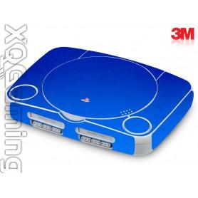 PS1 slim skin Metallic Blue Fire