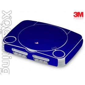 PS1 slim skin Metallic Blue Rapsberry