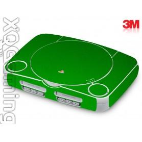 PS1 slim skin Metallic Green Envy
