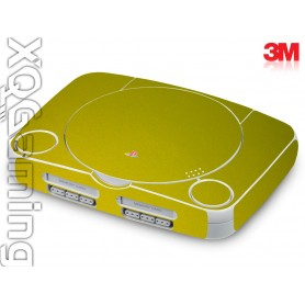 PS1 slim skin Metallic Lemon Sting