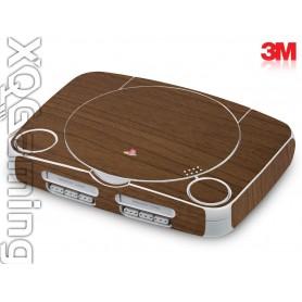 PS1 slim skin Wood Brown