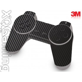 PS1 controller skin Carbon Fiber Black
