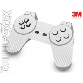 PS1 controller skin Carbon Fiber White