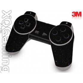 PS1 controller skin Metallic Black Galaxy Sparkle