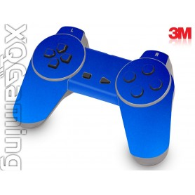 PS1 controller skin Metallic Blue Fire