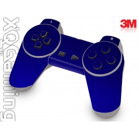 PS1 controller skin Metallic Blue Rapsberry
