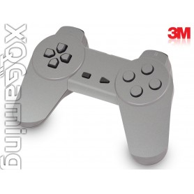 PS1 controller skin Metallic Sterling Silver