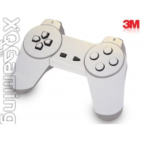 PS1 controller skin Metallic White Gold Sparkle