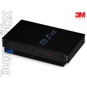 PS2 skin Metallic Zwart Galaxy Sparkle