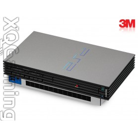 PS2 skin Metallic Sterling Silver
