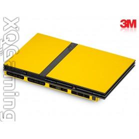 PS2 slim skin Gloss Bright Yellow