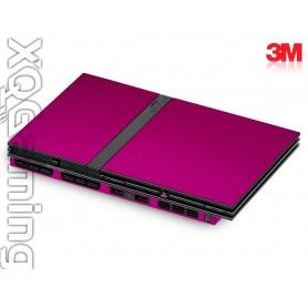 PS2 slim skin Metallic Fierce Fuchsia