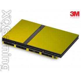 PS2 slim skin Metallic Lemon Sting