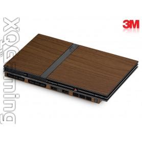 PS2 slim skin Wood Brown