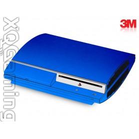 PS3 skin Metallic Blue Fire