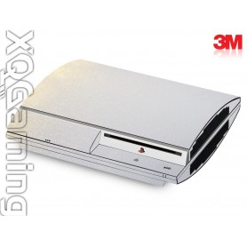 PS3 skin Metallic White Gold Sparkle