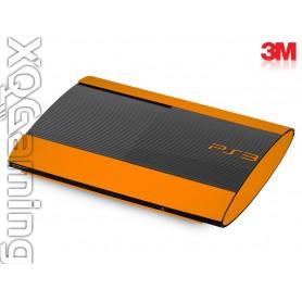 PS3 Super Slim skin Gloss Bright Orange