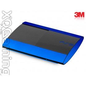 PS3 Super Slim skin Metallic Blue Fire