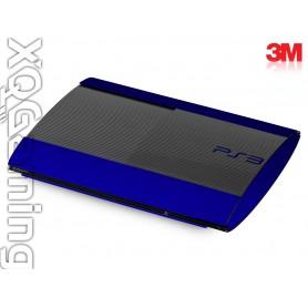 PS3 Super Slim skin Metallic Blue Rapsberry