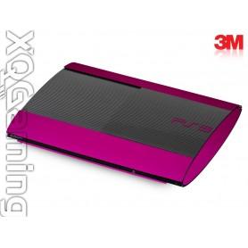 PS3 Super Slim skin Metallic Fierce Fuchsia