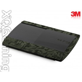 PS3 Super Slim skin Shadow Military Green