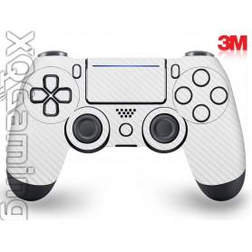 DS4 skin Carbon Fiber White