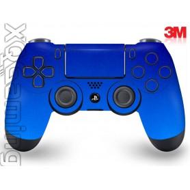 DS4 skin Metallic Blue Fire