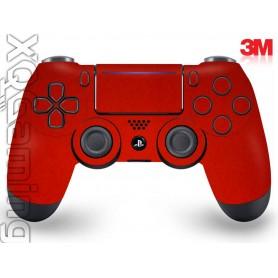 DS4 skin Metallic Dragon Fire Red