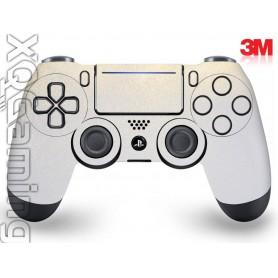 DS4 skin Metallic White Gold Sparkle