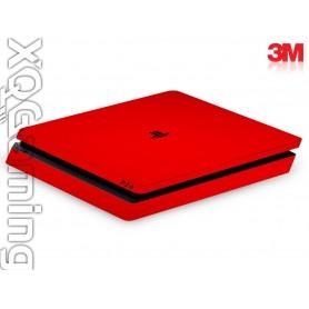 PS4 slim skin Gloss Hotrod Red