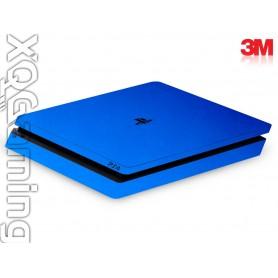 PS4 slim skin Metallic Blue Fire