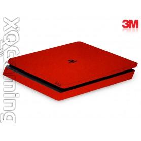 PS4 slim skin Metallic Dragon Fire Red