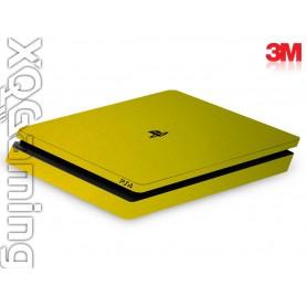 PS4 slim skin Metallic Lemon Sting