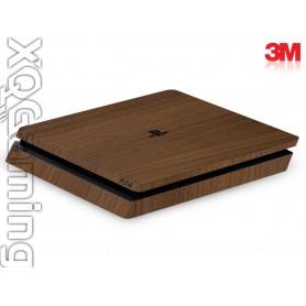 PS4 slim skin Wood Brown