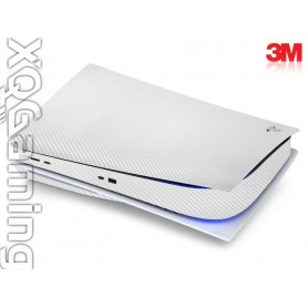 PS5 disc skin Carbon Fiber White