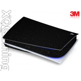 PS5 disc skin Metallic Black Galaxy Sparkle