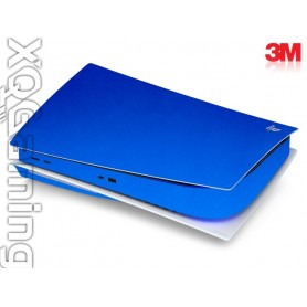 PS5 disc skin Metallic Blue Fire