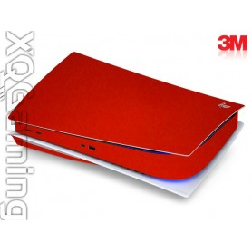 PS5 disc skin Metallic Dragon Fire Red