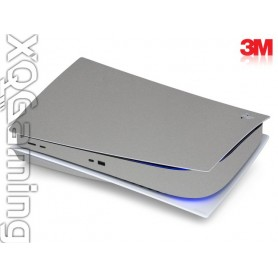 PS5 disc skin Metallic Sterling Silver