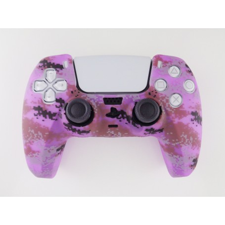 DualSense rubber shell Camo Purple