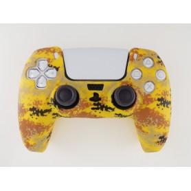 DualSense rubber shell Camo Yellow